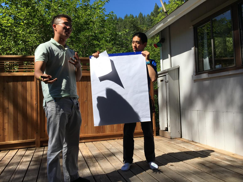 Kampmann lab retreat: Kun & John