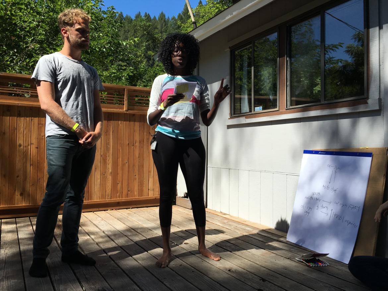 Kampmann lab retreat: Diane & Vincent