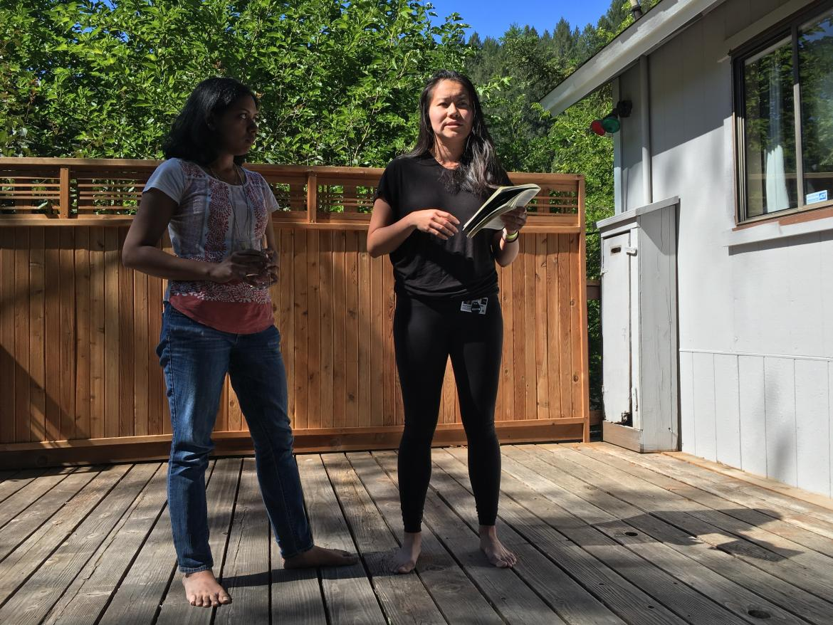 Kampmann lab retreat: Poornima & Stephanie