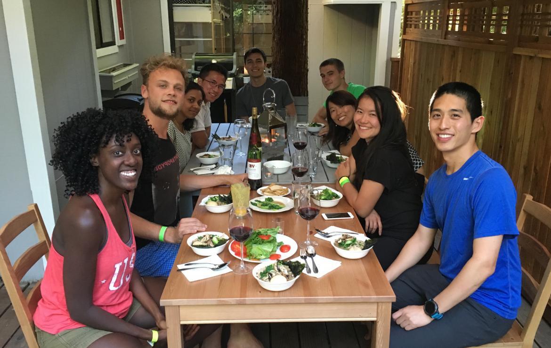 Kampmann lab retreat: Eating