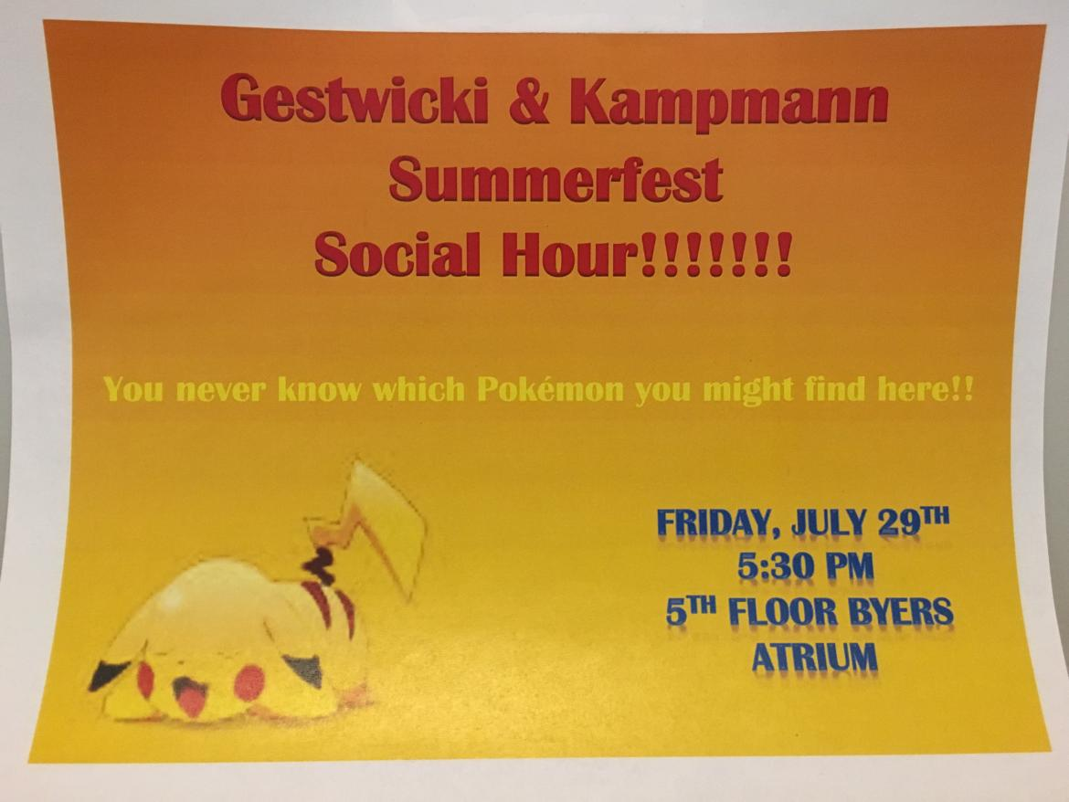 Kampmann + Gestwicki Lab Happy hour