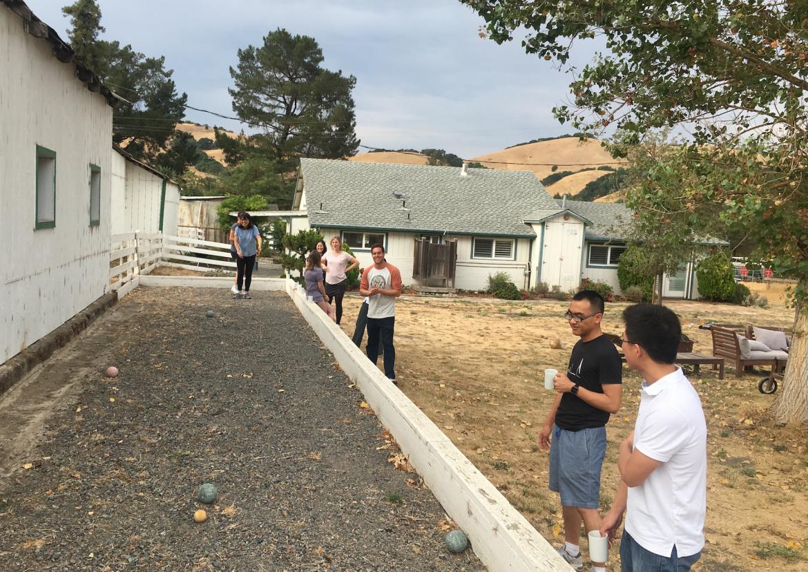 Kampmann Lab retreat - bocce