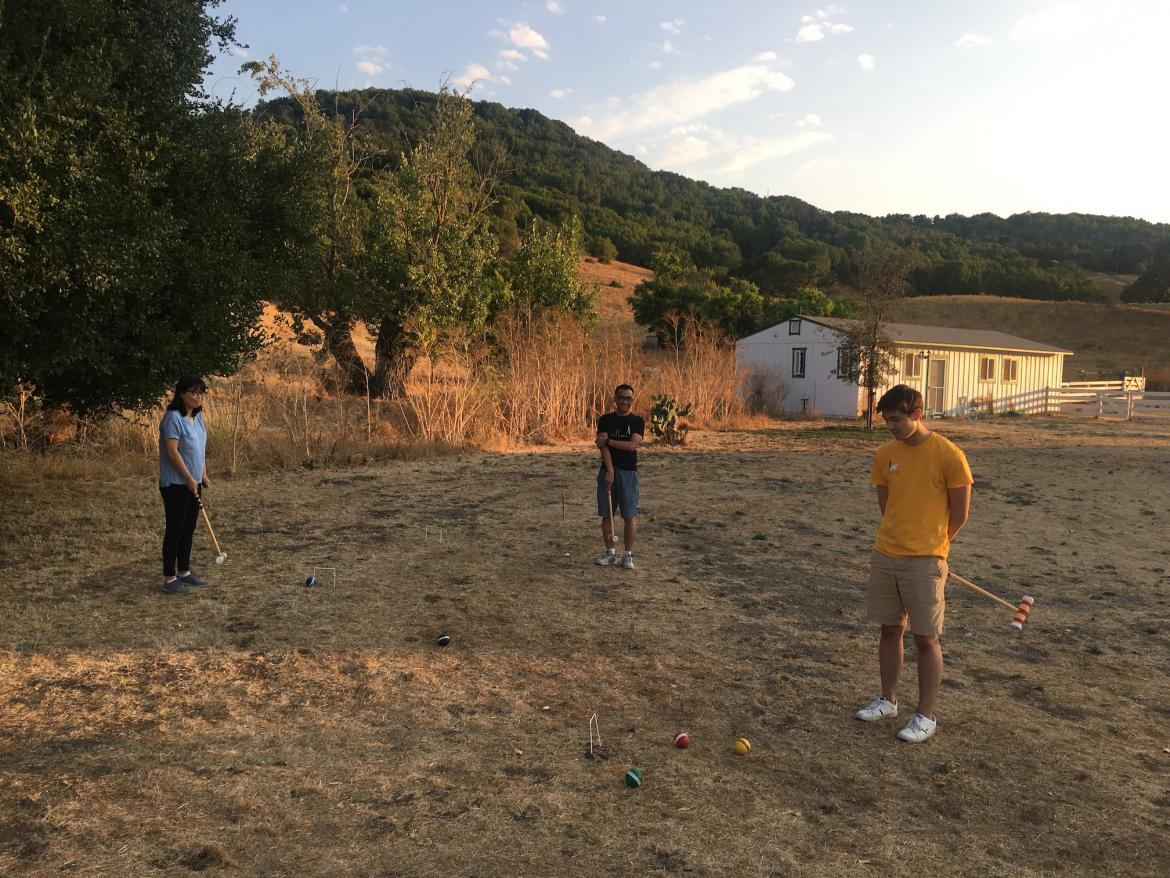 Kampmann lab retreat - croquet